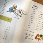 I dag tränar klassen grammatik. Ungdomar som kommer hit som flyktingar lär sig nästan språket bättre på språkutbildningen, än de barn med invandrarbakgrund som är födda här i Södertälje.