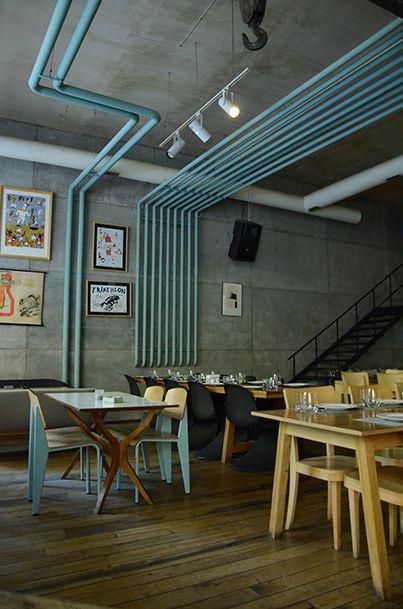 restaurang, room, loft