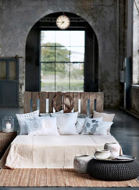 Broste copenhagen, sovrum, lastpallar, betong, industri