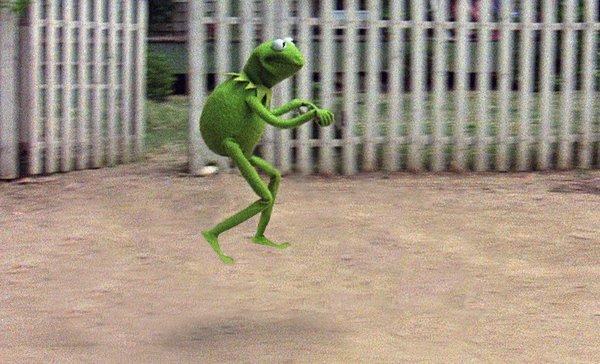 Plötsligt dök Kermit upp