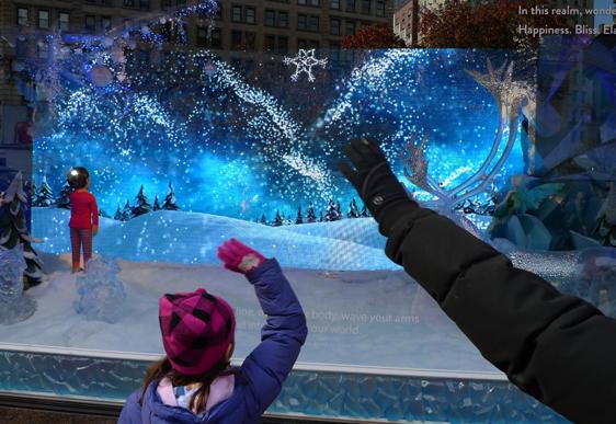 Varuhuset Macy's julskyltning i år är interaktiv. Skapa ditt eget snölandskap!