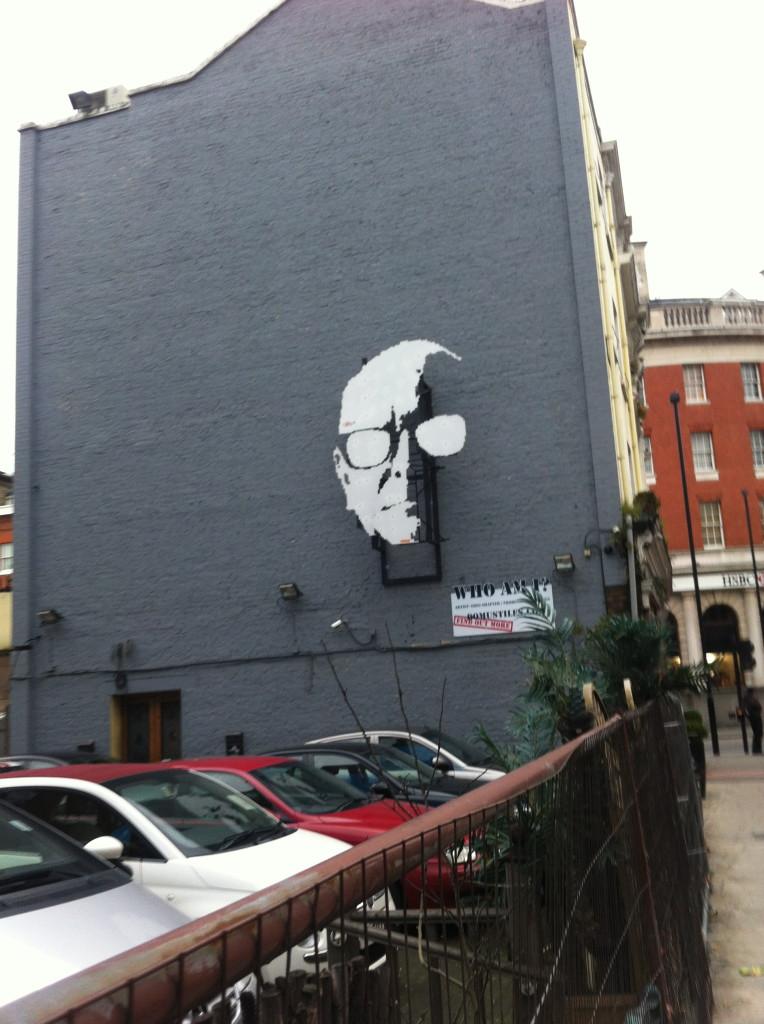 Mannen på väggen.