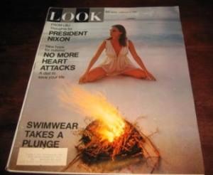 """Amerikanska Look Magazine skrev om den svenska studien 1969, under rubriken """"Det nya preventivmedelssamhället""""."""