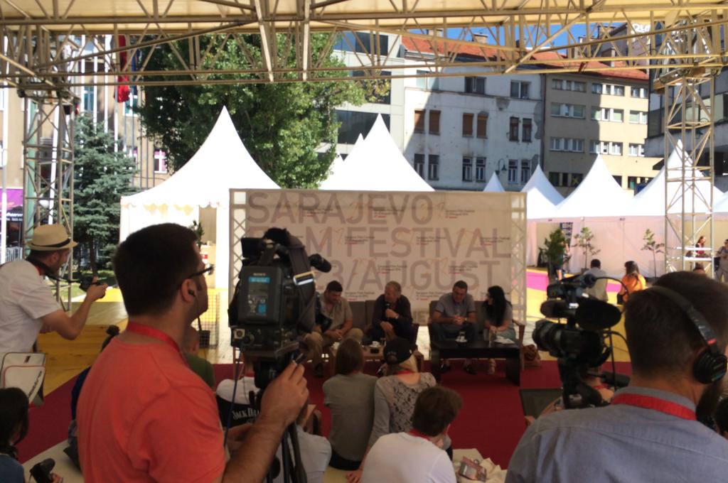 """Norske Hans Petter Moland visade """"Kraftidioten"""" på festivalen. Huvudrollsinnehavaren Stellan Skarsgård var dock inte på plats."""