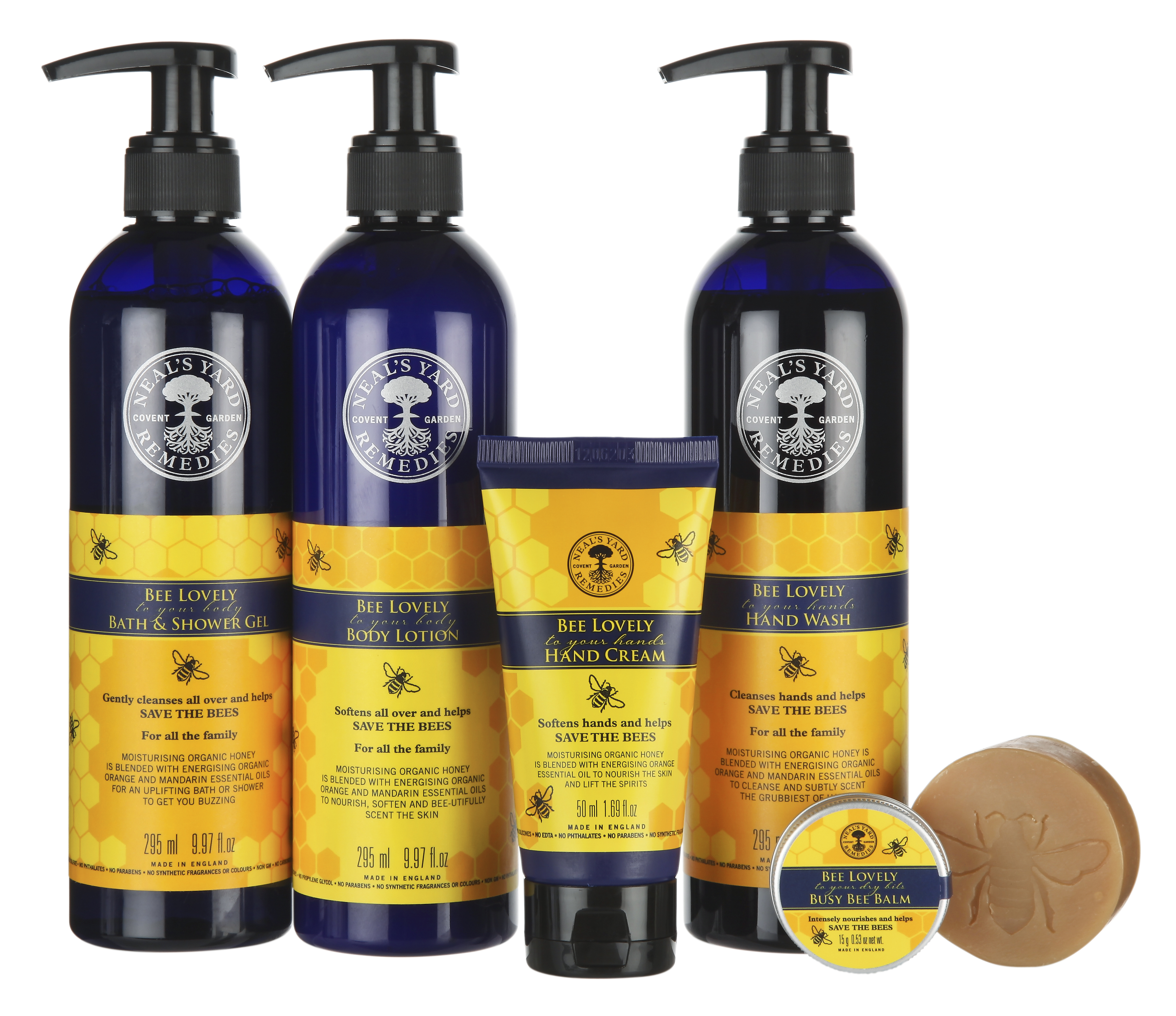 Brittiska ekologiska märket Neal´s Yard är prisbelönt för sina produkter som bygger på vårdande bivax