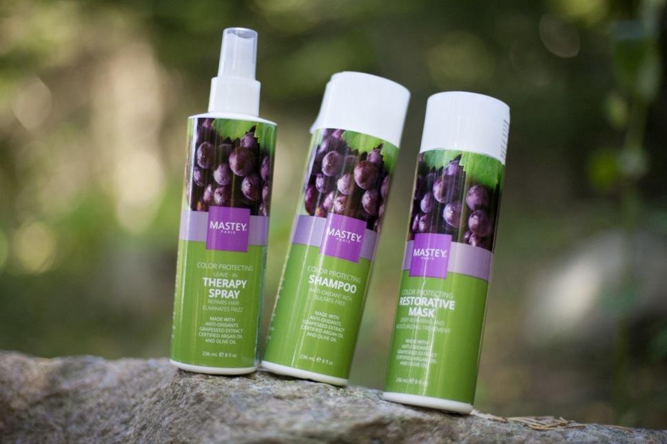 Mastey schampo med vindruvsolja är godkänt av grön salong certifieringen