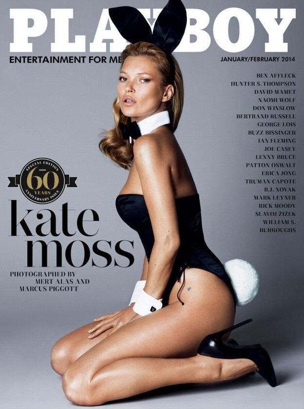 Kate Moss utan påsar och rynkor. Som vi är vana att se henne.