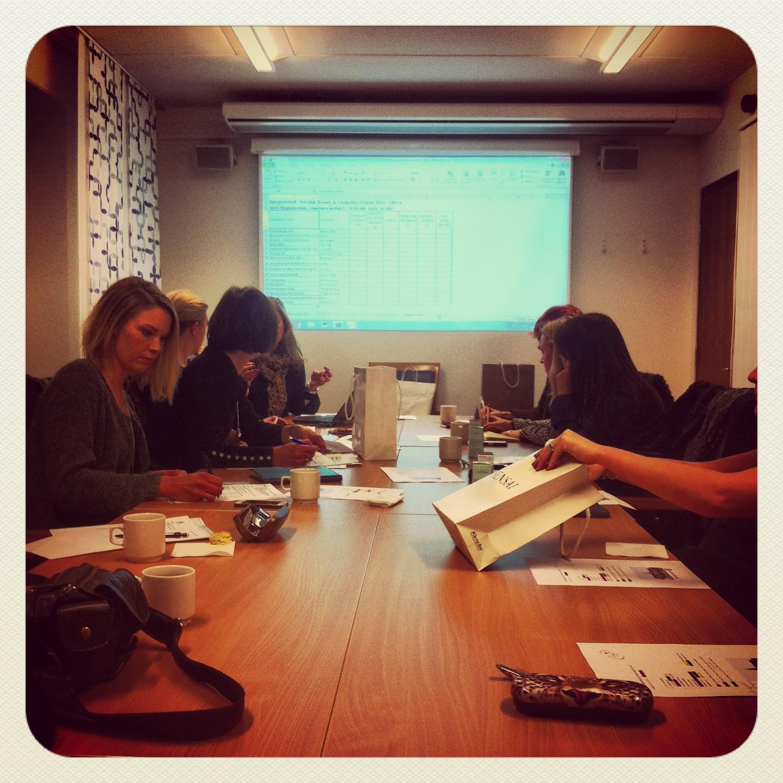 I dag träffades de 3 olika jurygrupperna i KTF:s lokaler i Närlingslivets hus på Östermalm