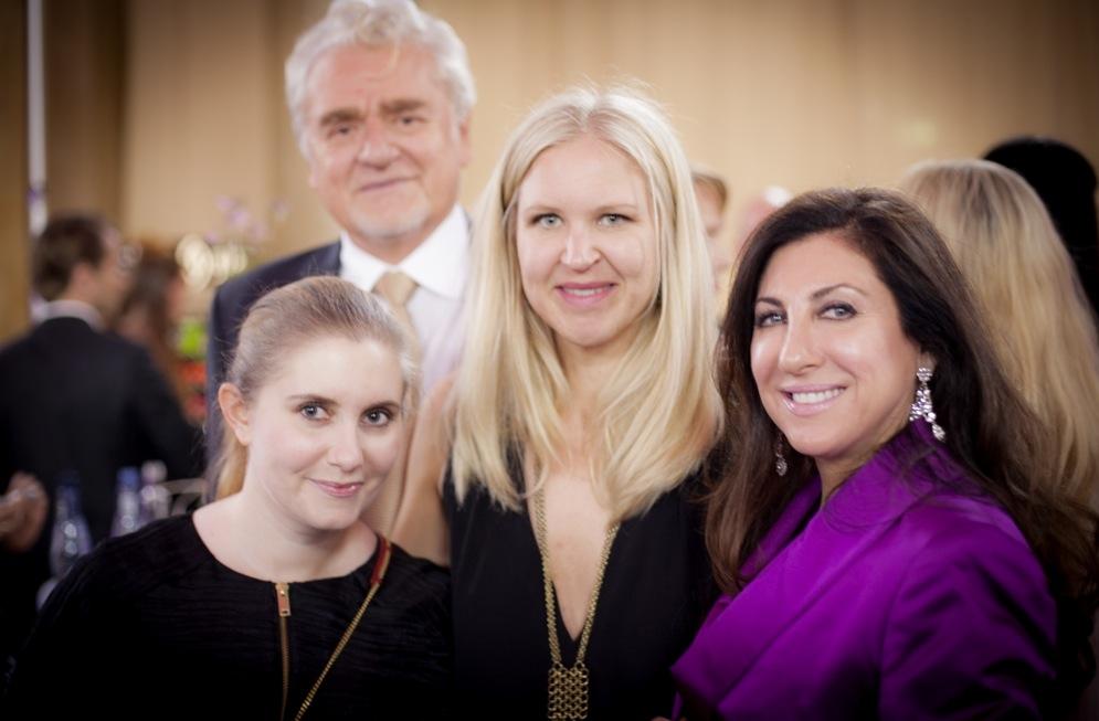 Alvin Ronlan, Linnea Sjölund, Erika Tapper och Graziella Ronland (Transdermas grundare) var på plats på Elle galan