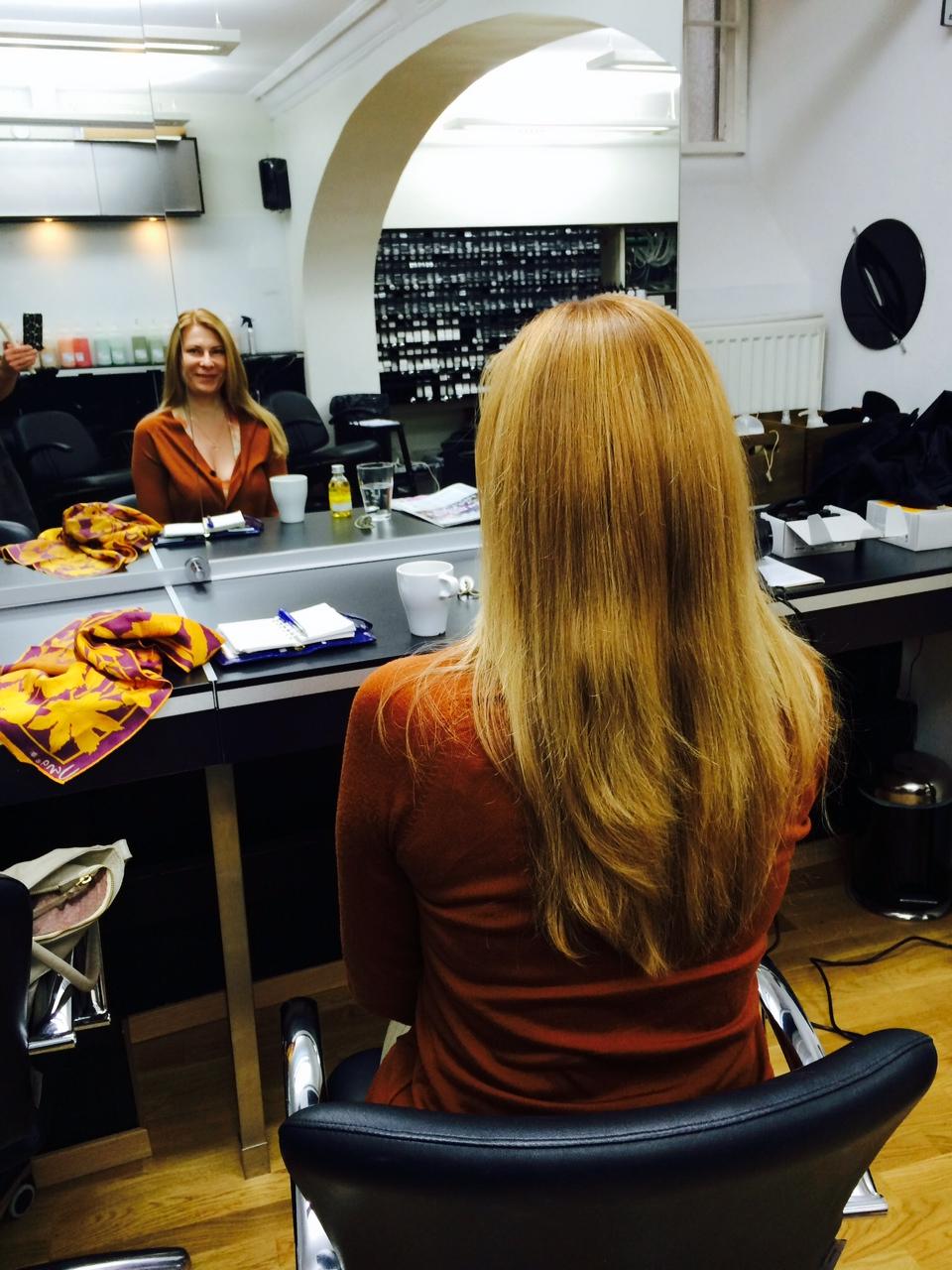 Ny hårfärg med Davines utan ammoniak och andra gifter.