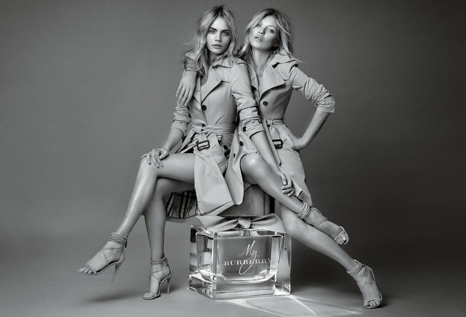 Kate Moss och Cara Delevingne förevigade på en paarfymflaska av Ma rio testino