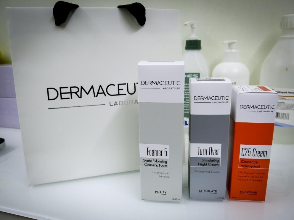 Efter Milkpeel rekomenderas en stödjande kur med krämer från Dermaceutics