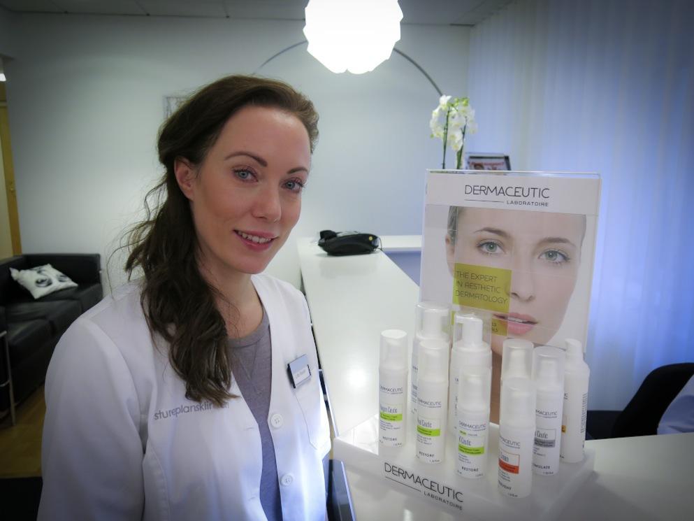 Lotta Wandel på Stureplanskliniken i Stockholm skräddarsyr behandlingsprogram med  Dermaceutics kraftfulla klinik-krämer.