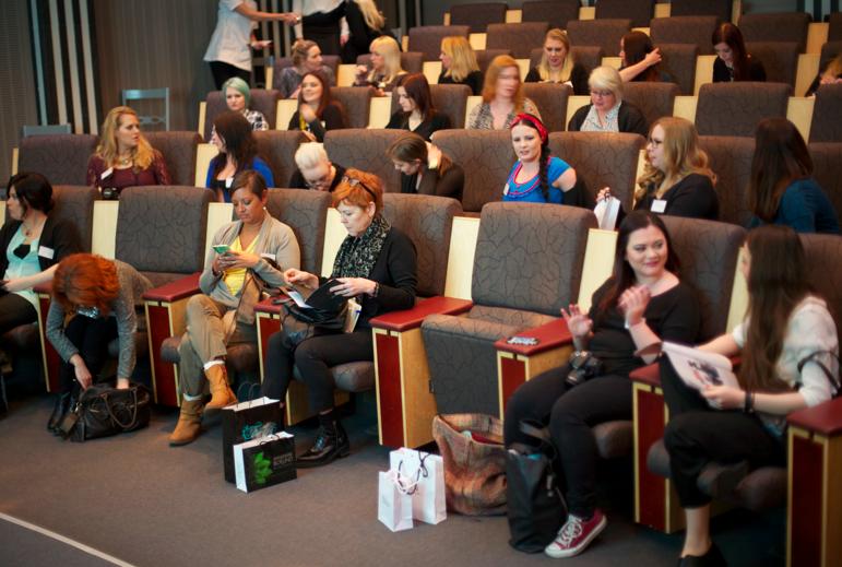 Föreläsningarna var välbesökta av beautynördar från hela Sverige