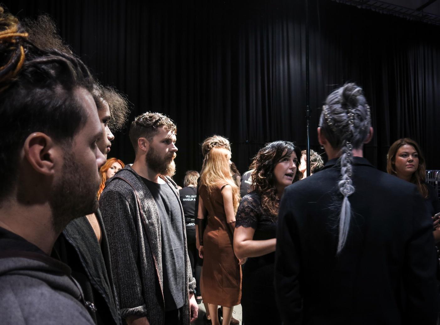 Spänd väntan för Uncharted collection hos Wella Professional teamet. Frontad av deras kreativa designer, Therese Danielsson.