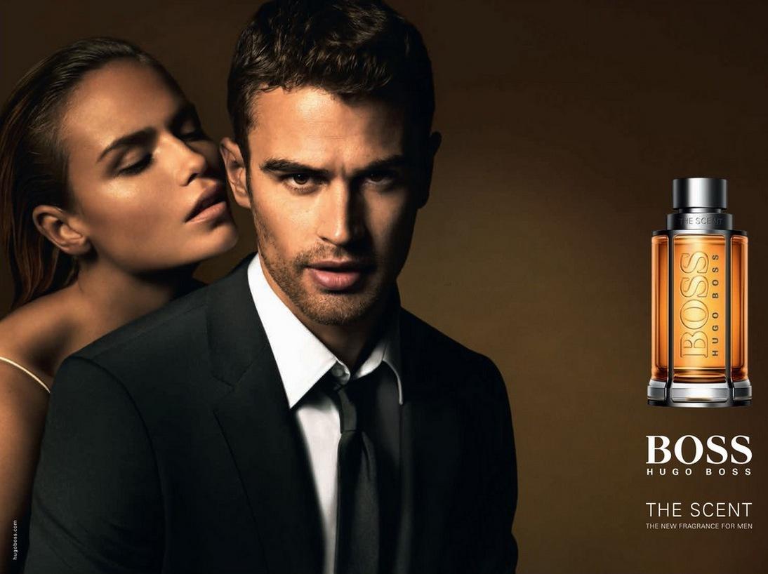 Lavendel, läder, maninka och ginger är huvudingredienserna i The Scent som använder skådisen Theo James som modell
