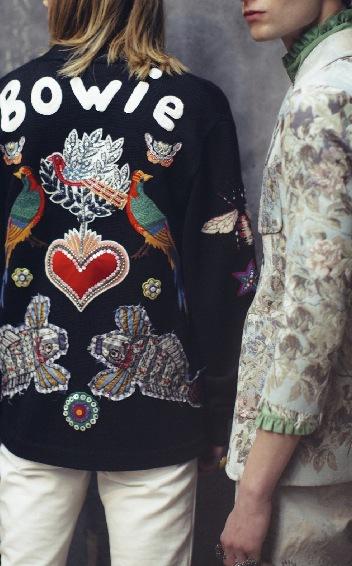 Gucci hyllar popikonen med en specialsydd jacka i höst.