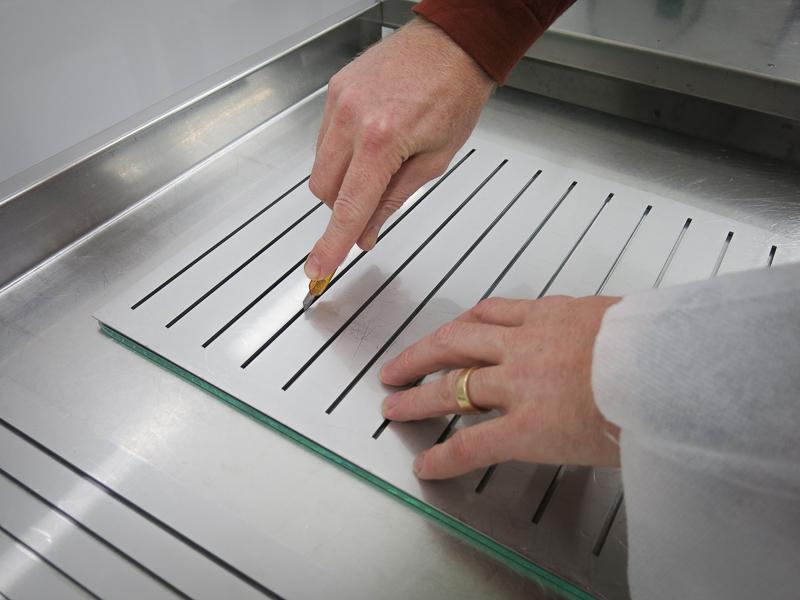 Själva filmen, som laddas med 20mg resveratrol/film, består av en alginatbaserad polymerfilm som skärs i lövtunna bitar och sedan torkas i en specialugn.