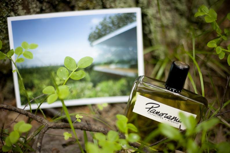 """Panorama från Olfactive Studio är exempel på en doft ur familjen """"Aromatisk Grön"""". Den kom 2014 och innehåller bambu, viol- och fikonlöv, wasabi och labdanum. Jag är kär i den här doften. Foto: Agneta Elmegård"""