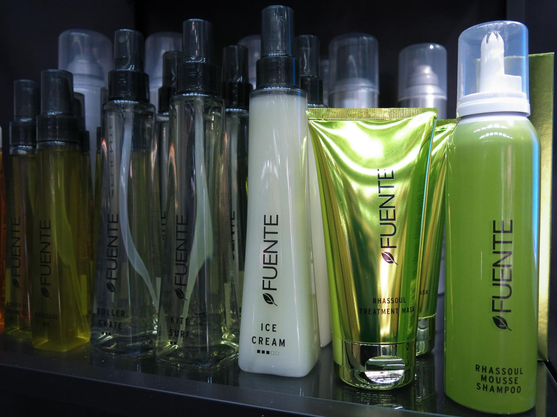 Fuente har även härliga ekooljor och andra sulfatfria schampo som du hittar på hårsalonger.