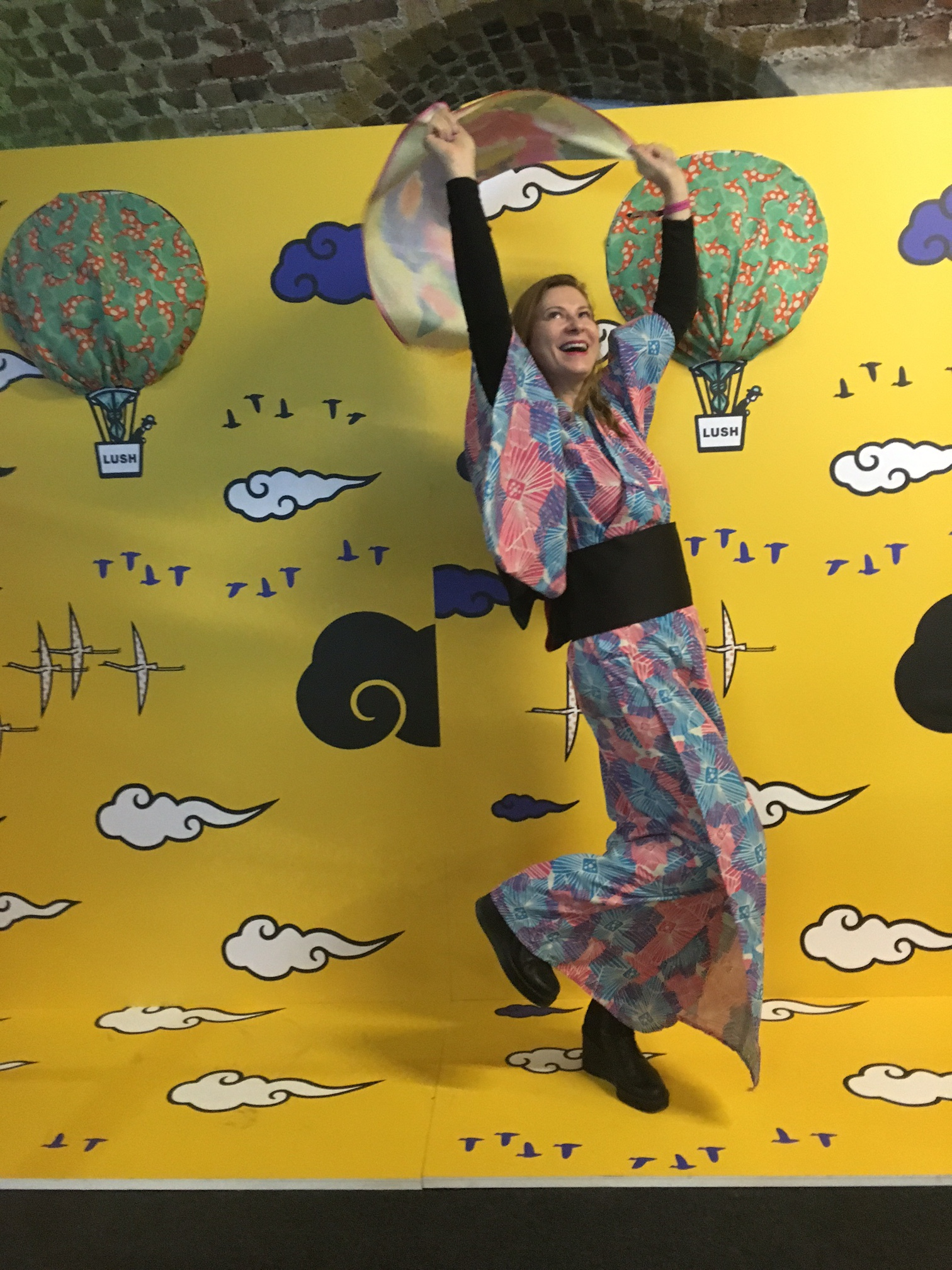 I den japanska paviljongen kunde man klä ut sig till en geisha!