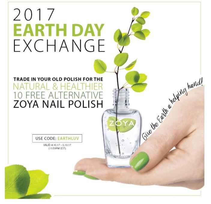 Zoya har en kampanj just nu där du kan beställa deras härligt gröna giftfria nagellack och samtidigt bidra till att Zoya planterar ett träd för varje sålt nagellack.