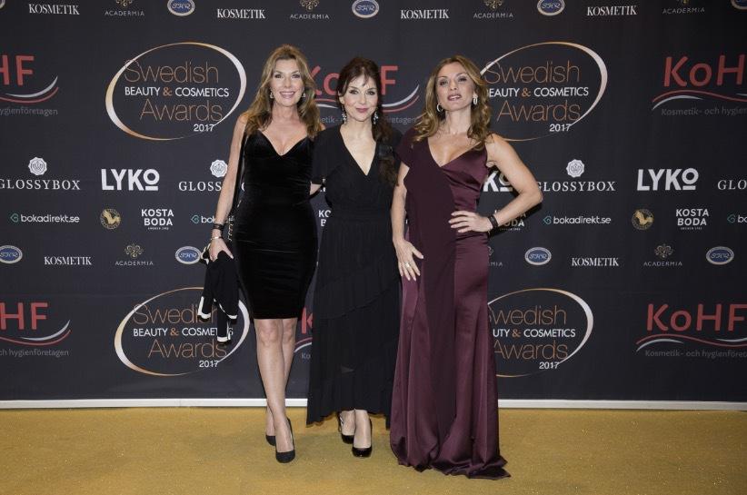 Susanne Rydeström som har märket Ageless Beauty, Annika Jankell och Alexandra Pascalidou