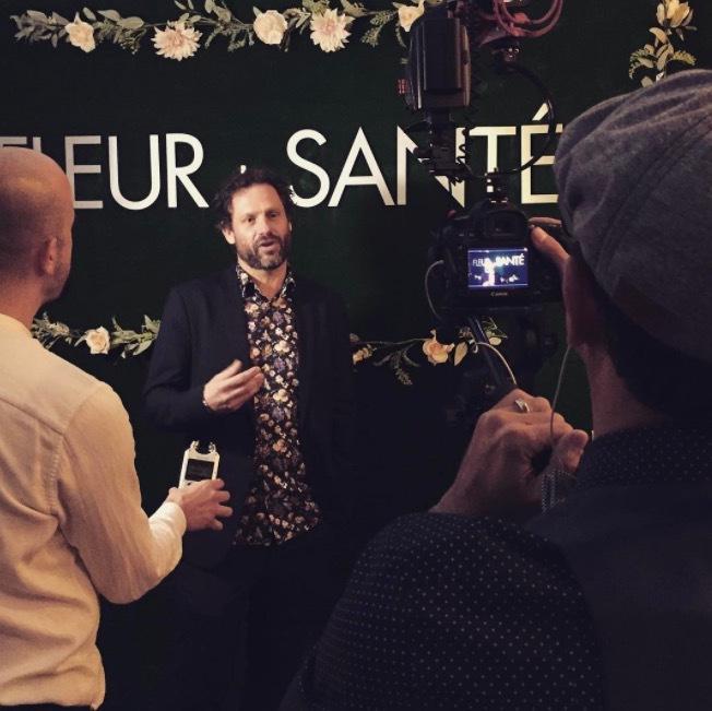 Mathias Tonnesson på världslanseringen i Palm Beach, florida för en månad sedan. Foto från Instagram