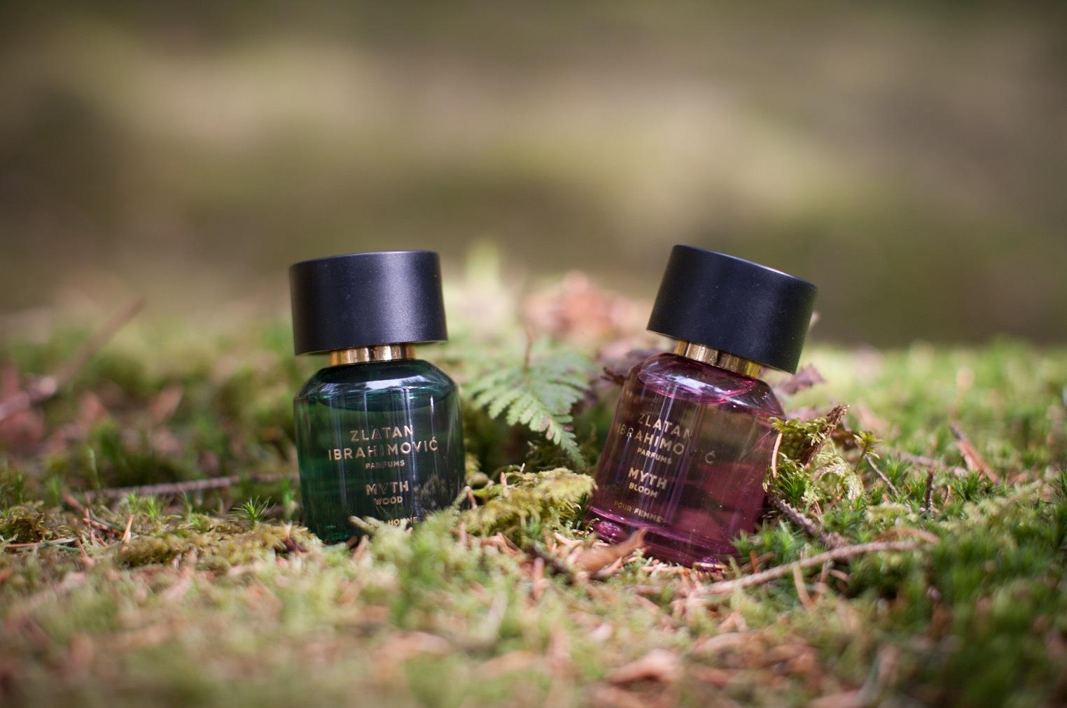 """Nytt från Zlatan Ibrahimovic perfums """"Mtyh wood"""" och """"Myth Bloom"""" den här gången med inspiration från den skandinaviska floran."""