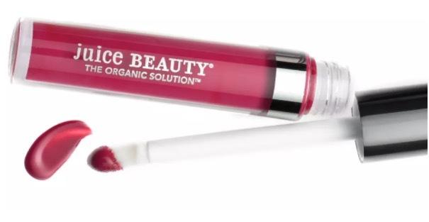 Juice Beauty använder pigment från aubergine och syren i sina läppglans, sk phytopigment.