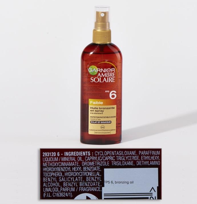 Hoppsan, det här solskyddsmedlet från L'Oreal visade sig innehålla octyl methoxycinnamate (som visat sig vara hormonstörande i invitrotester), men var står det på INCI-listan?