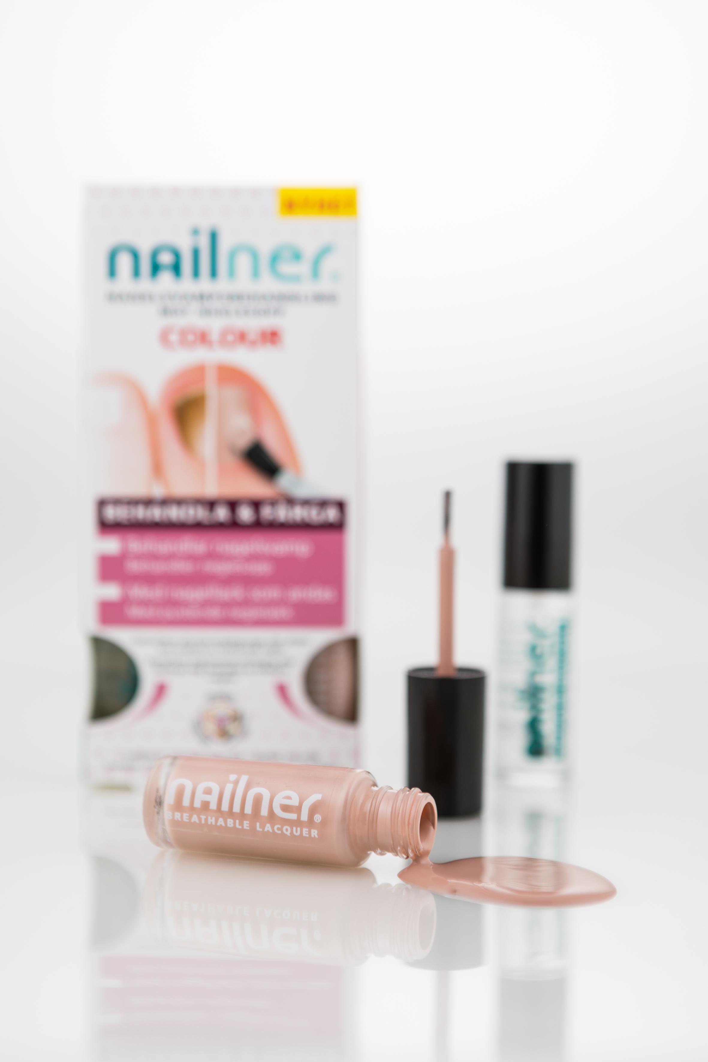 Bild: Nailner Treat & Colour – nagellack speciellt utvecklat för naglar med svamp. 279 kr på Kronans Apotek.