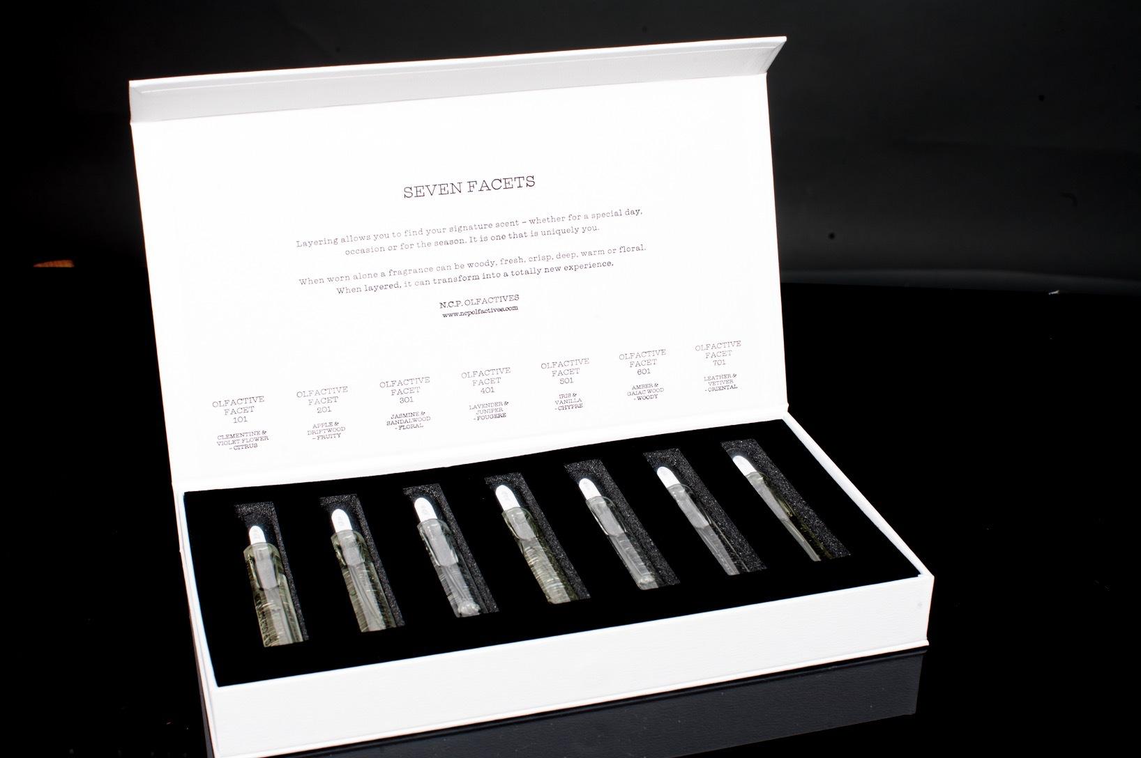 Noomi Rapace projekt med tre andra koncept- och doftnördar är lager på lager baserat. Ur N.C .P Olfactives har jag fastnat för Nr 501, Iris&vanilla samt 701, Leather&vetiver. Mums.
