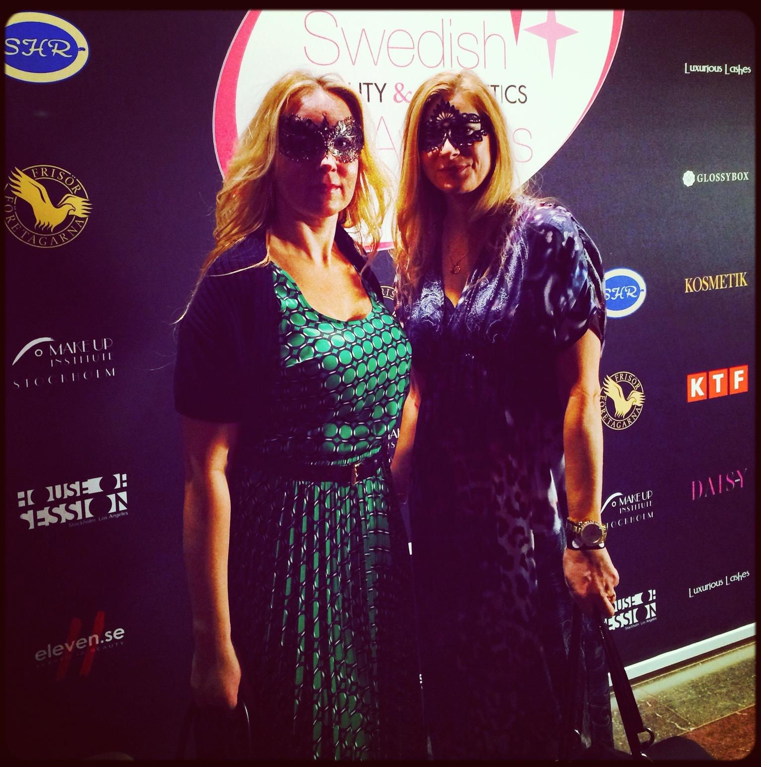 Petra Weiss och jag på 2014 års gala på Nordiska museet.