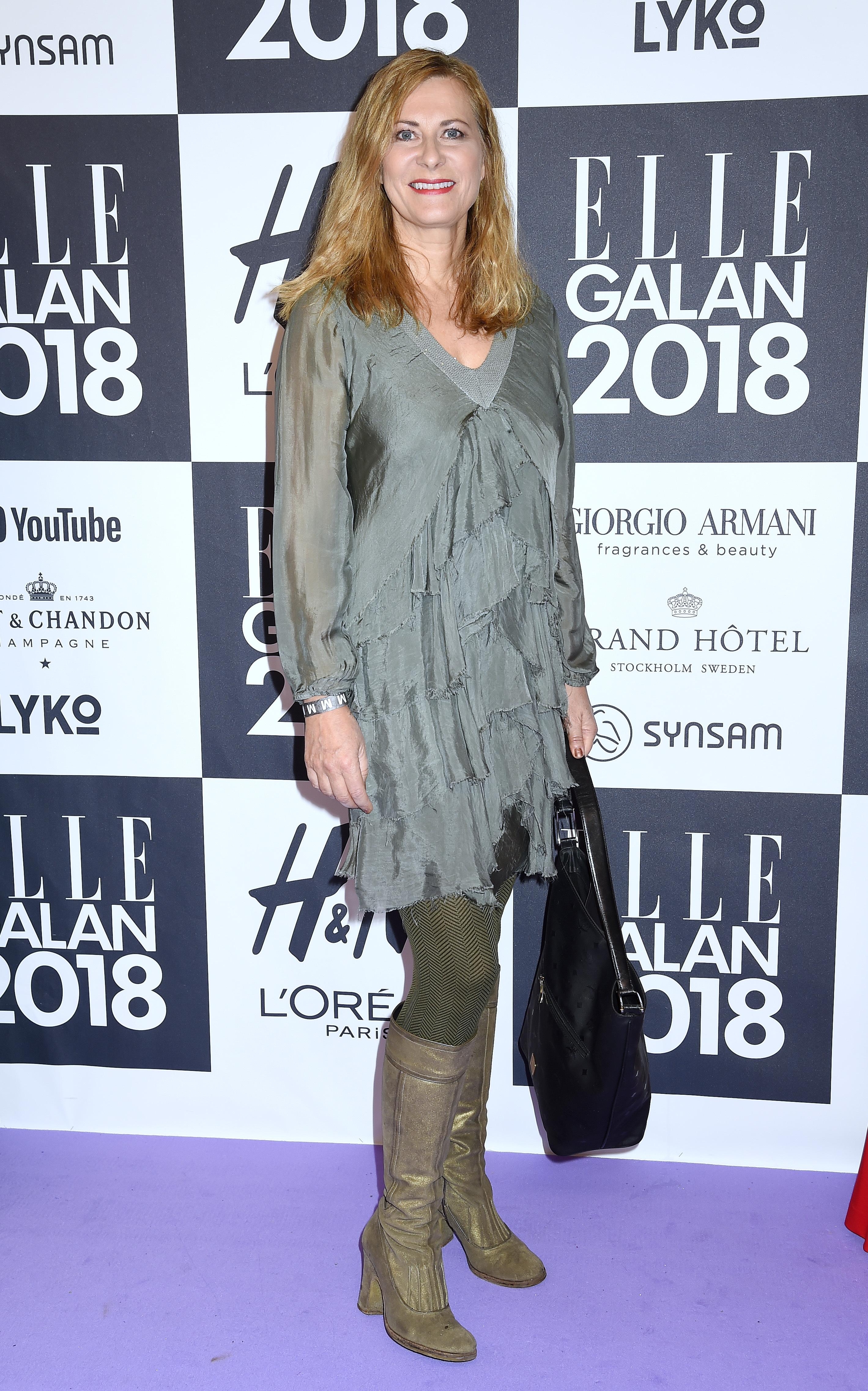 Jag hade på mig en en volangklänning från Italienska Polina och stövlar från belgiska märket Essentiell