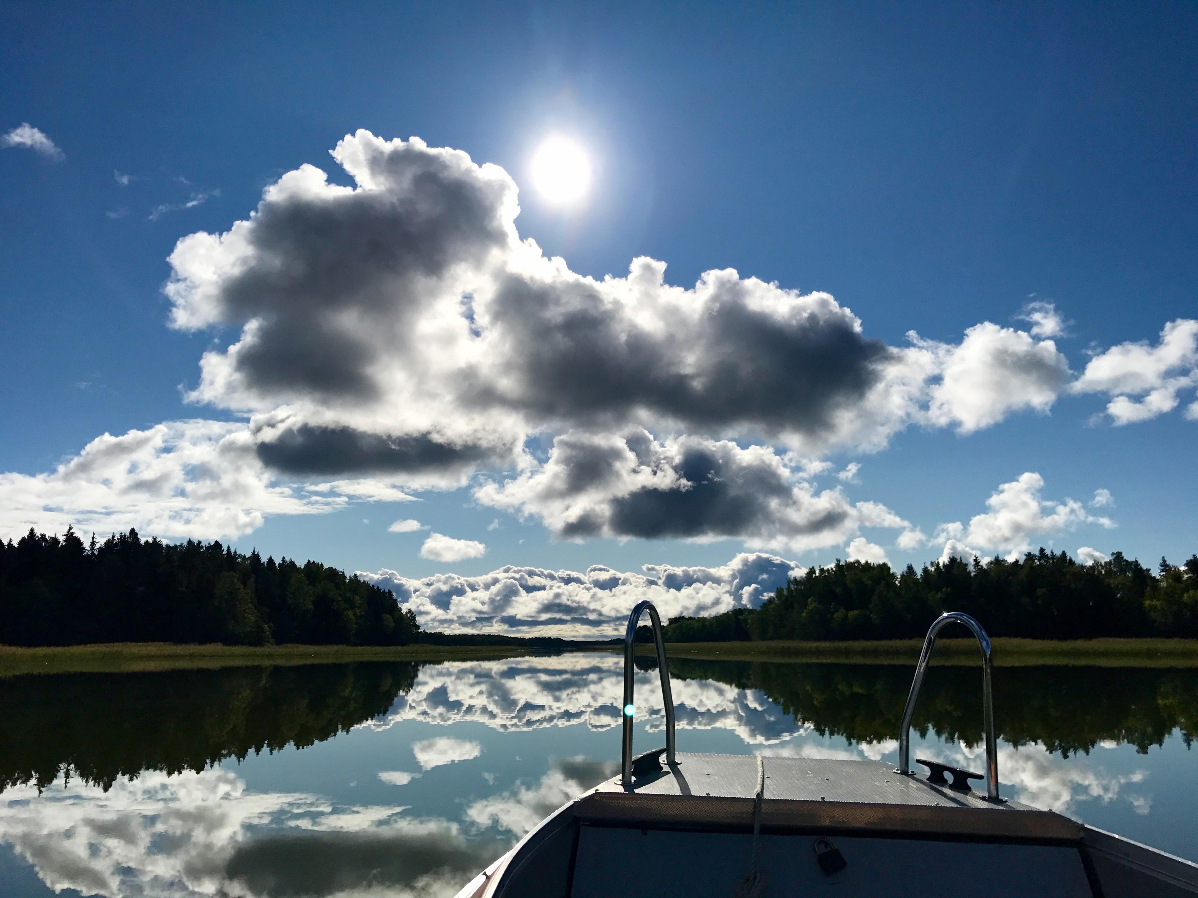 En vacker sommardag i Östhammar, norr om Uppsala. Foto: Agneta Elmegård