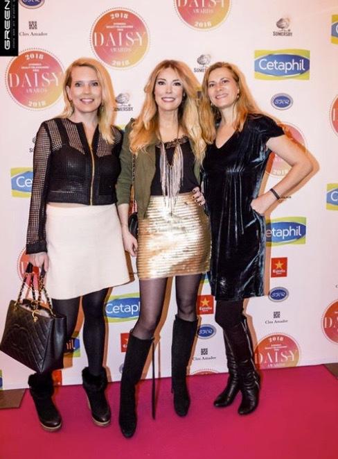 Hanna Gerner, Jessicka Berghult och jag. Kläder från Säby.
