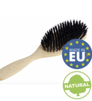 Hårborste för längre hår i vaxat bokträ och svinborst från Redecker
