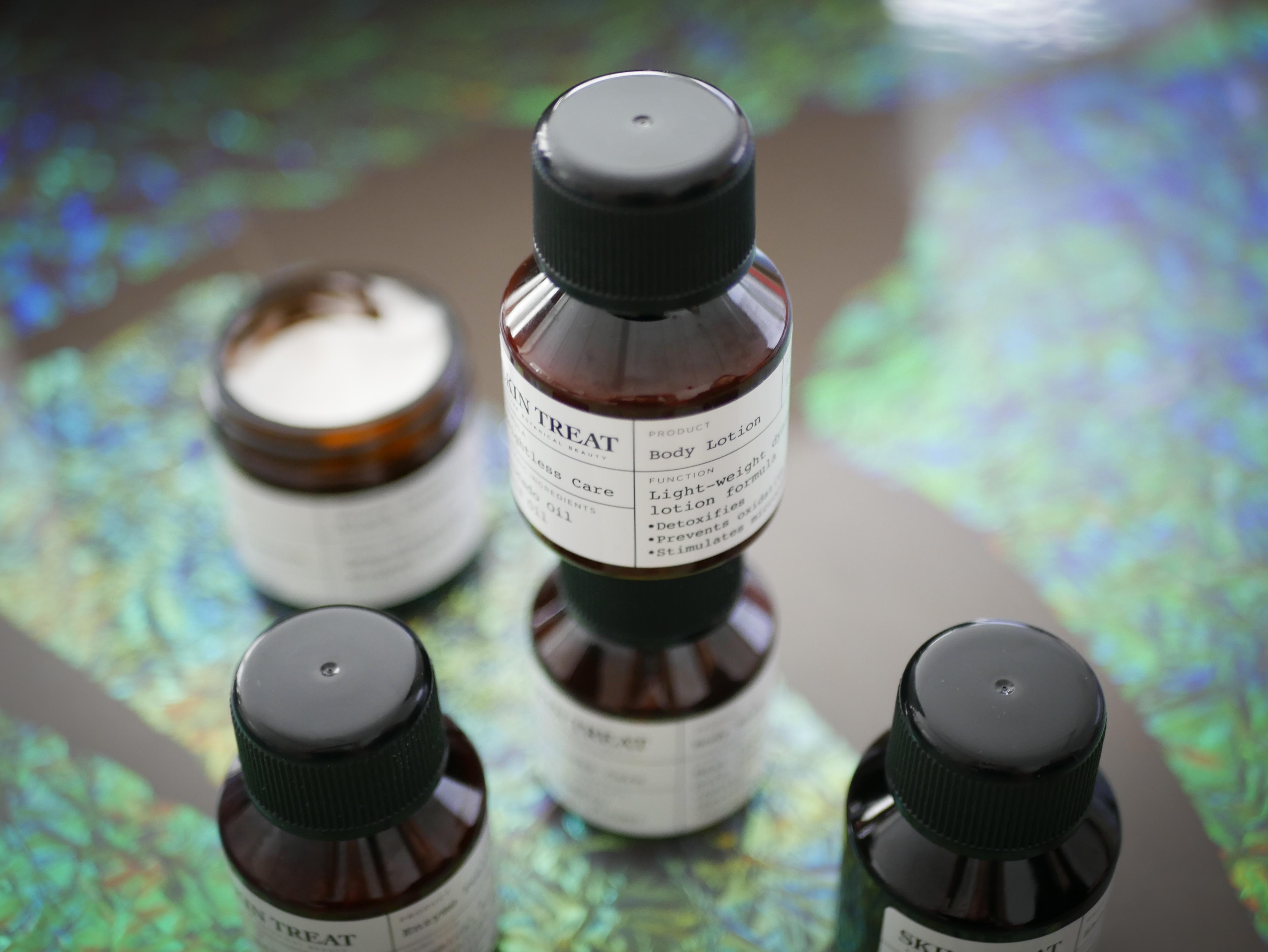 Skin Treat kommer i färdigt skick att ha en design inspirerad av gamla apoteksflaskor