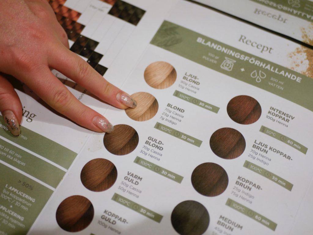 Du kan få ett brett spektra av permanenta hårfärger beroende på din utgångspunkt. från blond till mörkbrun och svart.