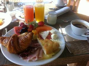 Ljuvlig frukost på La Gran Hotel Ibiza.