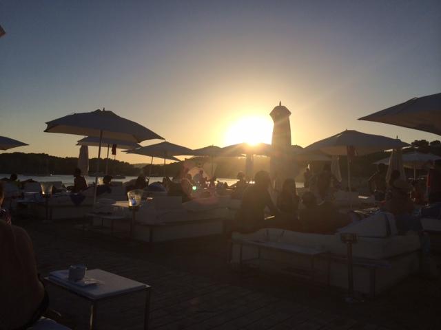 Solnedgång på Blue Marlin. Foto: Andrea Hed