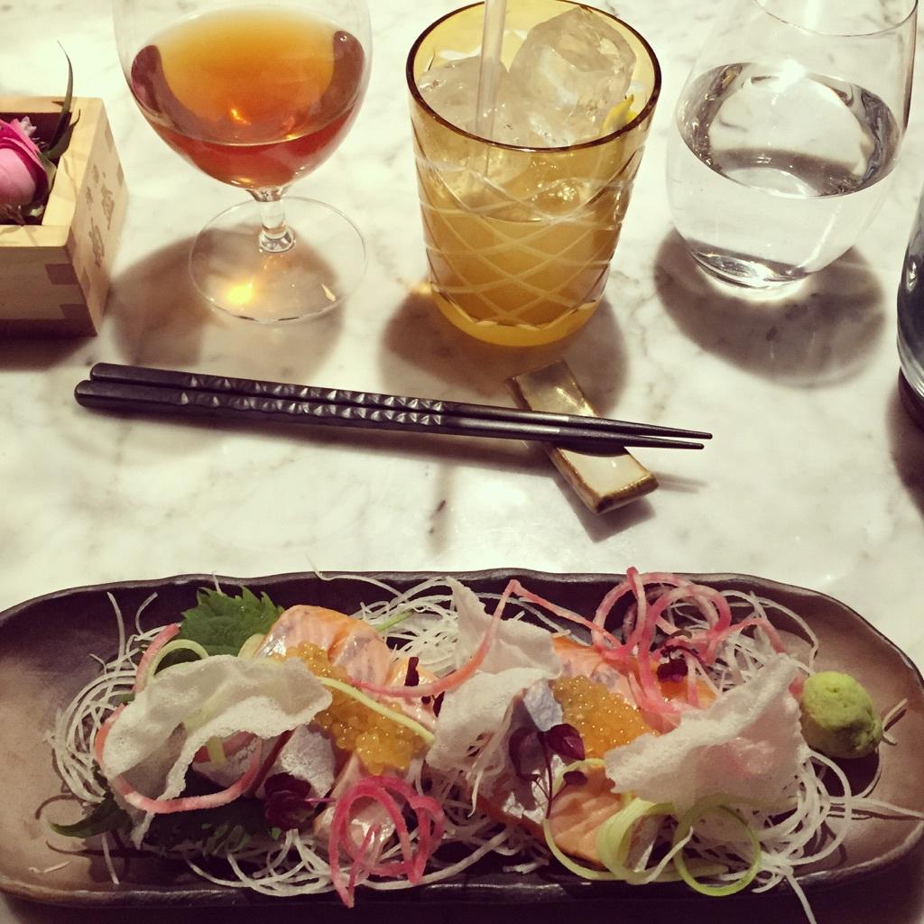 Röding-sashimi från vRÅ.