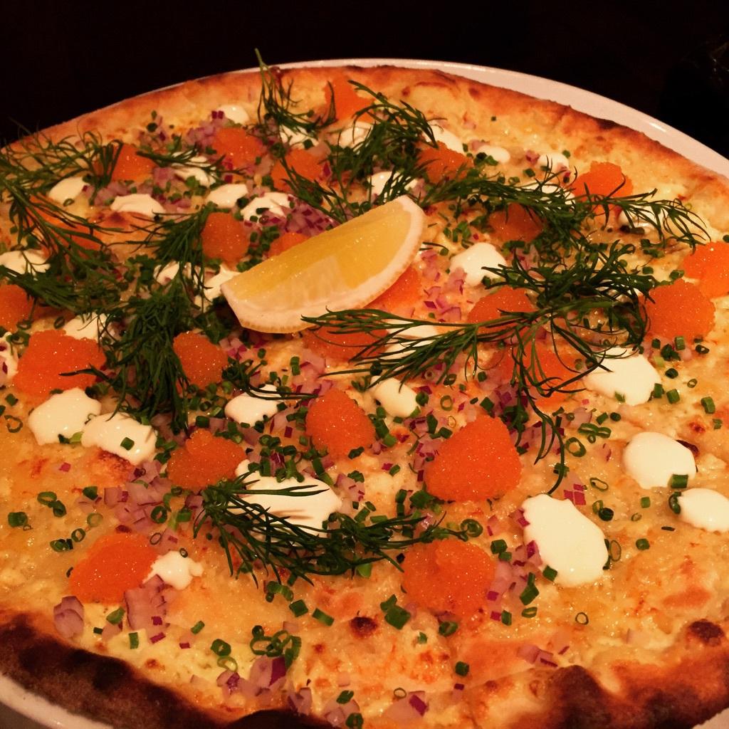 Löjromspizzan från Brillo är ju briljant.