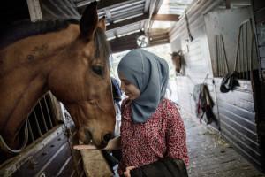 Mellan studier på lärarhögskolan, engagemang i det muslimska ungdomsnätverket JVCE och en kurs i magdans tar Imane hand om hästen Quincy, som bor på en gård utanför centrala Rotterdam.