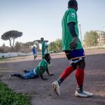 MEST PÅ LEK. Liberi Nantes spelar i en liga men ligger utanför det formella seriesystemet eftersom man av naturliga skäl inte lever upp till de italienska kraven på ett visst antal inhemska spelare.
