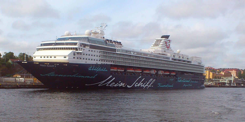 Mein Schiff 1 på besök i Stockholm.