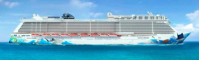 Först ut i NCL:s nya Breakaway Plus-klass är fartygen Escape och Bliss. Foto: NCL