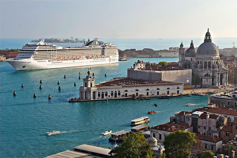 MSC Musica i Venedig. Foto: MSC Cruises