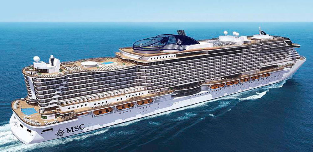 MSC Seaside har premiär 2017. Foto: MSC Cruises